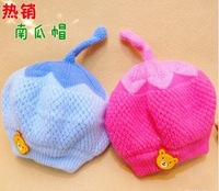 Hot Sale Free shipping Handmade Cute Crochet Baby Toddler Children's beanie hat Cashmere fruit Pumpkin hat  5pcs/lot