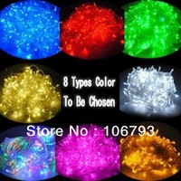 2 pieces Hot 100 LED 10M XMAS Party Wedding Tree Decoration String Light EU US UK Plug free shipping