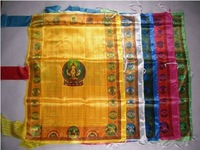 Om Mani Pedme Hong / Alokhe Silk Prayer Flag Big Size 100cm * 70cm Hang vertically prayer flag