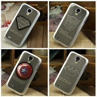 Superhero 3D Aluminum Metal Plate Logo Case Cover Skin For Galaxy S4 IV i9500
