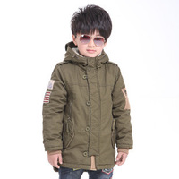 Free shipping Winter boy classic cotton-padded clothes more lambs wool coat