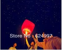 Free Shipping 30pcs Heart Sky Lanterns Wishing Lamp Flying Lanterns Sky Chinese Lanterns Birthday Wedding Party -- TOY13