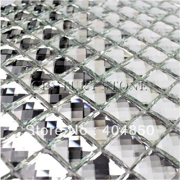 For kitchen bathroom wall and backsplash glass mosaic - Mirror mosaic tile backsplash ...