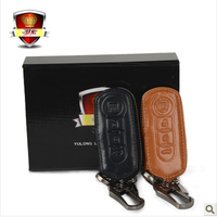 Fiat car genuine leather key wallet key cover car keysters