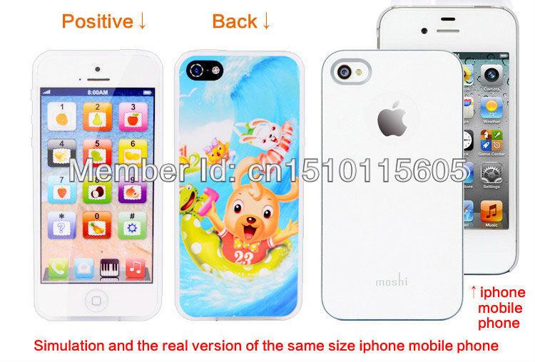 Free shipping Y Phone 5 English Learning Pretend Mobile Phone,Y phone English learning Toy With USB Charging Spigot,500PCS/Lot(China (Mainland))