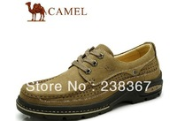 New arrival authentic camel men's genuine leather shoes for big shoes two colors free shipping Leather shoes