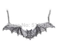 Length 5 Inches Large Vampire Gothic Bat Pendant Necklace