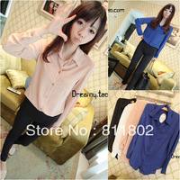 2013 New women's The chiffon shirt + free shipping