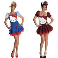 Halloween Costumes For Women, Hello K itty Princess Animal Adult Pokemon Cosplay Costume Lovely Kitty Cat Dresses For Girl