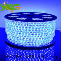 IP68 led strip light 220v waterproof epistar 3528 60leds/m with one connector for free wholesale 2 years warranty