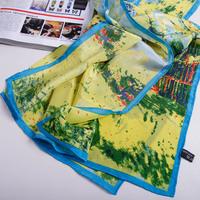 2013 Autumn-summer 100% Silk Scarf Oil Painting Big Size Silk Scarves For Women Pure Silk Brand Shawl Scarfs 156x42cm SF0161