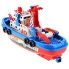 5Sets/Lot Hot Sell Funny Children Kids Loving Sound Flash Water Spray Fireboat Simulation Boat Toy 12463(China (Mainland))
