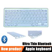 Rechargeable Bluetooth Wireless Ultra-slim Keyboard Keypad for IPad Mac iPhone Free Shipping