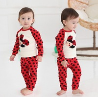 2013 New Arrival baby pajamas children's winter bee leisure wear kids homewear sets infant Underwear Suit free shipping