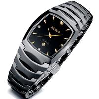 Aesop watch ceramic black quartz fashion watch table male watch men's inveted  2 color choice 9916