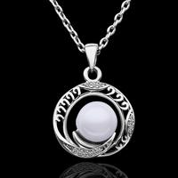 2014 hot sale jewellery rhinestone pendant The latest version of pearl inlaid Czech diamond ring goddess
