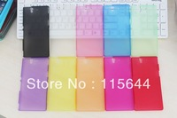 Matte plastic fiber cover case 0.3mm thin for  Sony L36H Xperia Z  wholesale 20 pcs/lot by CP