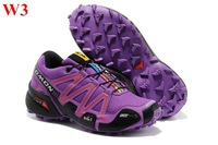 Propromotion!2013 new brand Salomon shoes speedcross 3 athletic running shoes for women new with tags size 36-40