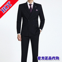 2013 autumn men's clothing male suit slim double breasted male suit