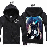 Free Shipping New Anime Black rock shooter Q version    Hooded Sweatshirt Cosplay Hoodie Costumes