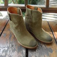 Free Shipping Fashion Isabel Marant Elevator Genuine Leather Retro Boots Finishing Women's Shoes Snow Boots