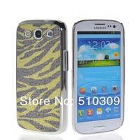 Wholesale and retail FASHION TIGER HARD CHROME PLATED CASE COVER FOR SAMSUNG GALAXY S3 I9300 FREE SHIPPING