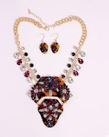 Sapphire Jewelry Free Shipping Wegirl 6 Color2014 Statement Jewelry Sets Rhinestone18k Collar Necklace Earring Fashion 2t274