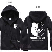 Free Shipping New Anime Dangan-Ronpa   Black and white bear    Hooded Sweatshirt Cosplay Hoodie Costumes