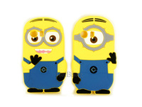 Free Shipping 3D Cute Cartoon Despicable Me Minions Silicone Cases Cover For Samsung Galaxy Y S5360, Ace S5830, S5300,S6102 Skin