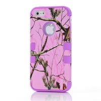 Purple  FOR iPhone 5G DROP DEFENDER HOT PINK Real CAMO MOSSY TREE OAK HYBRID CASE COVER