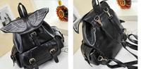 Fashion Harajuku AMO AYUMI hit color Splicing three-dimensional wings Backpack Ms. backpack