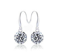F06751 New Arrival Fashion Jewelry 925 Sterling Silver Plated Drop Earrings With Zircon For Christmas Gift + Free Shipping