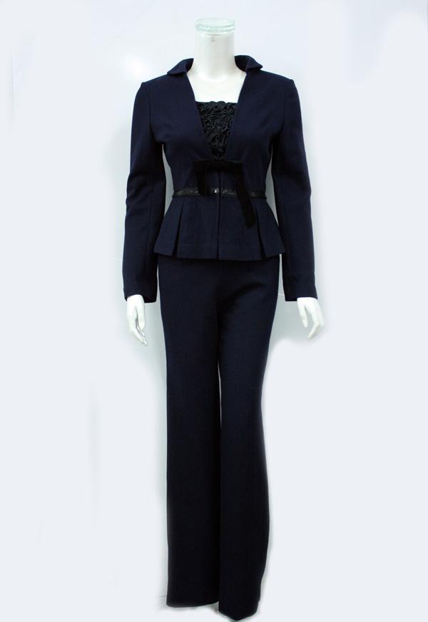 ... navy blue single top d6134y5069 girls sweet knee-length office uniform