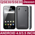Special offer Free shipping S5830i Q5830 Android 2.3 dual sim multi-touch screen polish russian A5830 1GHZ CPU bulgarian phone