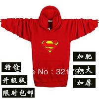 mens hoodie long-sleeve sweatshirts plus size with a hood 100% cotton sweatshirt men's clothing,supermen logo,XXXXL size