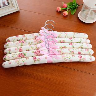5714 Free shipping Creative cotton cloth racks sponge antiskid hanger for clothes 5pcs/set