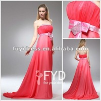 Hote Sale Off-shoulder Back Open Long Evening Dresses For Pregnant Women