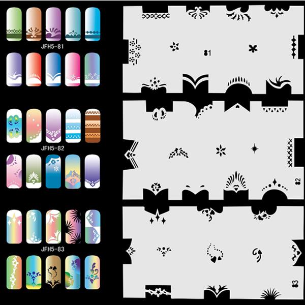 Airbrush Fingernail Nail Art Paint Stencil Kit Design Air Brush Patterns - Set No.5 - Animals, Peoples, Natures(China (Mainland))