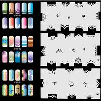 Airbrush Fingernail Nail Art Paint Stencil Kit Design Air Brush Patterns - Set No.5 - Animals, Peoples, Natures