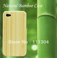 Free shipping+tracking number 10pcs/lot Real Natural Bamboo Wooden Wood Hard Back Case Cover Protector for iPhone 4 4S