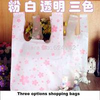 18x10x35cm shopping bags vest bag flower figure printing random deliver one color 100pcs/lot  promotional packing plastic bag