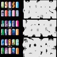 Airbrush Stencils For Nail Art Paint Air Brush Salon 320 Design (20 Sheets) Set No.8