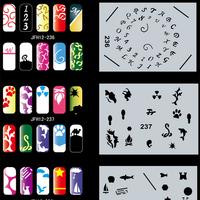 Airbrush Nail Art Pattern STENCIL, 360 Different DESIGNS, 20 Template Sheets Kit, Set No.12