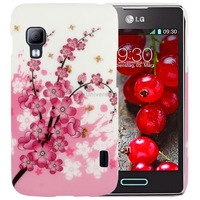 Beautiful Cherry Blossom Pattern Plastic Case for LG Optimus L5 II / E455