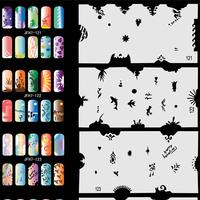 320 Design 20 Sheets Airbrush Stencils Nail Art Air Brush Mold Too Set No.7