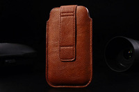 HKP ePacket Free Shipping with credit card bag Leather Pouch phone bags cases for fly iq444 Cell Phone Accessories
