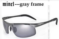 Free Shipping 2013 Russian Men's Polarized Sunglasses Aluminum-magnesium alloy Cycling Driving Sunglasses Sport Men Retail Box