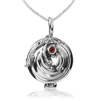 Bahamut The Vampire Diaries Elena Vervain 925 Steling Silver Necklace Verbena Locket Pendant
