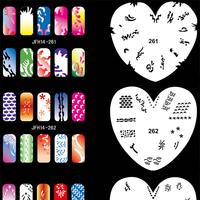 Airbrush Nail Art Stencil Set 14, 20 Sheet Stencil Set with an Average of 16 Different Nail Art Design Patterns