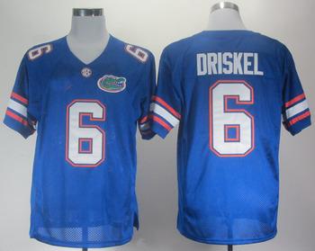 Free Shipping Cheap NCAA Colleage Football Jerseys Florida Gators Jeff Driskel 6 Royal Blue College Football Jersey